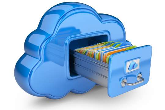 File storage in cloud. 3D computer icon isolated on white Bild: 43992926